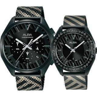 【ALBA】限量東京街頭對錶 情侶手錶-42+36mm(AT3H07X1+AH7W69X1)