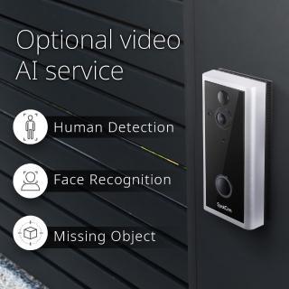 【spotcam】Ring 2 超廣角180度 動態偵測 免費雲端 智慧門鈴攝影機(智慧門鈴 視訊攝影機 wifi)