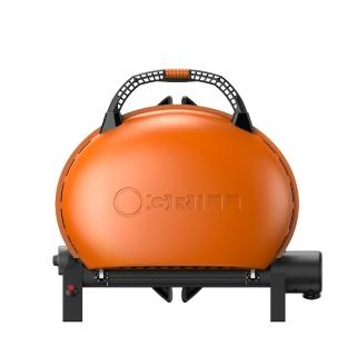 【O-Grill】500M美式時尚可攜式瓦斯烤肉爐(熱情橘)/