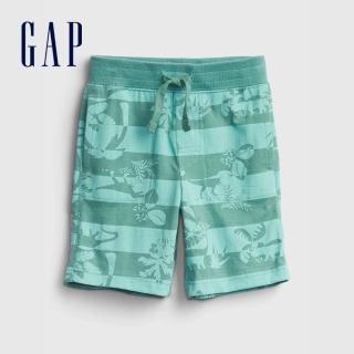 【GAP】男幼童 布萊納系列 口袋印花休閒短褲(542324-恐龍印花)