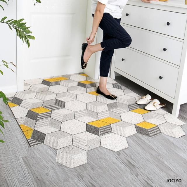 【聚時柚】100×120cm玄關刮泥地墊客廳地毯絲圈腳踏墊
