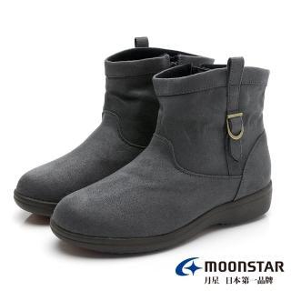 【MOONSTAR 月星】發熱3度C系列-防水暖靴-(灰色)