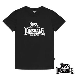 【LONSDALE 英國小獅】經典LOGO短袖T恤(黑色LT001)
