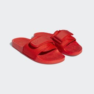 【adidas 愛迪達】PHARREL WILLIAMS CHANCLETAS HU PW BOOST SLIDE 菲董聯名 限量 拖鞋 紅色(FY6140)