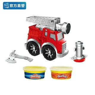 【PLAYDOH 培樂多】車輪系列(消防車遊戲組 無毒 F0649)