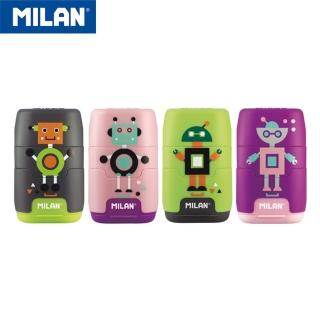 【MILAN】太空膠囊橡皮擦+削筆器(快樂機器人)