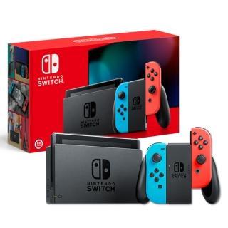 【Nintendo 任天堂】Switch紅藍主機+《健身環+18合1套裝》+《熱門遊戲多選一》