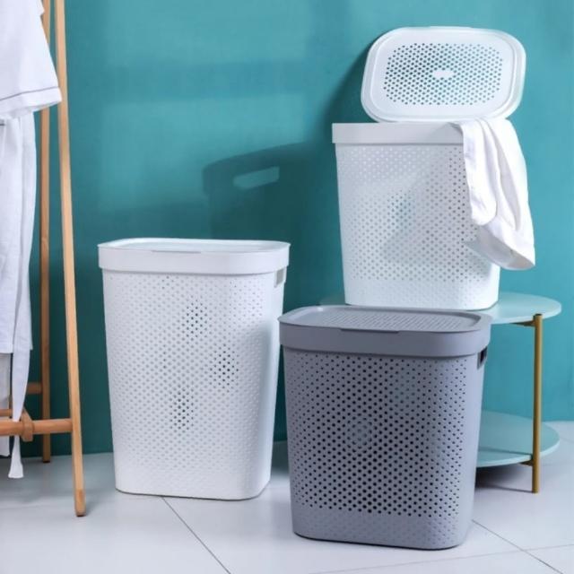 【MGSHOP】加蓋大容量洗衣籃髒衣籃(大款/2色)/