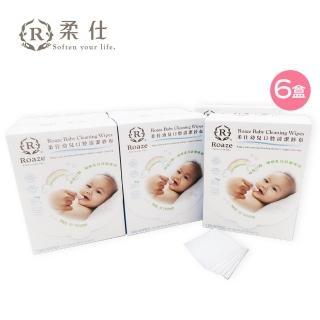 【Roaze 柔仕】乾濕兩用布巾 - 清淨棉(180片 x 6盒)