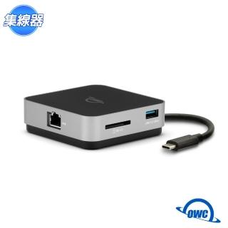 【OWC】USB-C TRAVEL DOCK E(USB-C、USB-A、SD Card、Gigabit 乙太網、HDMI 隨身 USB-C 擴充座)