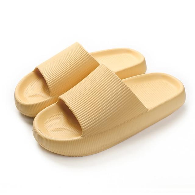 【西格傢飾】EVA加厚靜音防滑厚底拖鞋(6色任選/4雙組/止滑/居家拖鞋)