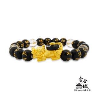 【金合城】黑瑪瑙貔貅六字珠串手環 MPEA075(金重約0.26錢)