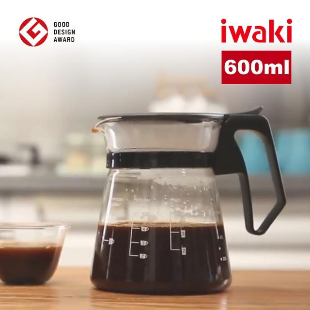 【iwaki】耐熱玻璃滴漏式咖啡壺(600ml)/