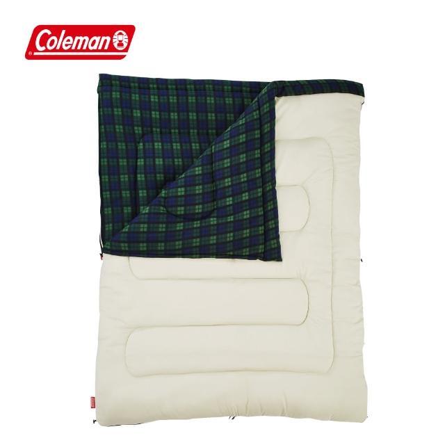 【Coleman】冒險者橄欖格紋刷毛睡袋