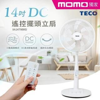 【TECO 東元】MOMO獨家日系風格14吋DC遙控擺頭立扇(XA1479BRD)