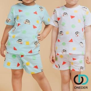 【ONEDER 旺達】蠟筆小新短袖家居套裝.睡衣-01(100%棉質、獨家授權)