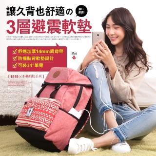 【CHENSON】厚背帶系列三層避震軟墊筆電後背包(1863235-M)