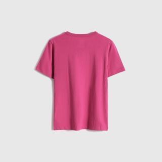 【GAP】男童 純棉創意印花短袖T恤(683398-粉紅色)