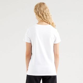 【LEVIS】女款 短袖T恤 / 春鳥花草Logo / 白-人氣新品