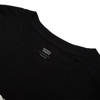【LEVIS】女款 短袖T恤 / 高密度立體膠印復古Logo / 黑-人氣新品