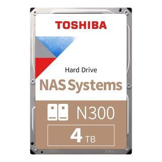 【贈金士頓64G隨身碟】TOSHIBA N300 NAS碟 4TB 3.5吋 7200轉硬碟 三年保固(HDWQ140AZSTA)