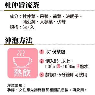 【蔘大王】代謝王杜仲脂流茶 SGS除濕茶(立體透明茶包)6gx10包/組X2組(排便順暢/輕盈靈活/逆轉人身)
