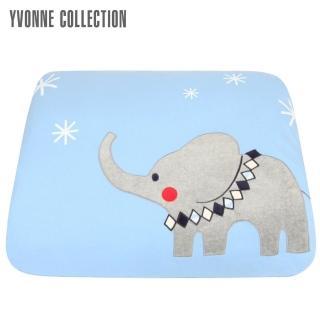 【Yvonne Collection】馬戲團單人四季被_5x7呎(灰藍)