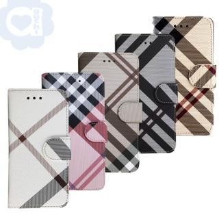 【Aguchi 亞古奇】Samsung Galaxy A42 5G 英倫格紋氣質手機皮套 側掀磁扣高度防護 獨家限量發行