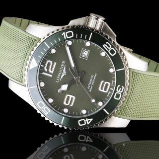 【LONGINES 浪琴】深海征服者陶瓷框潛水機械錶(L37814069)