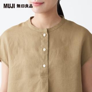 【MUJI 無印良品】女有機亞麻水洗法式袖套衫(共3色)