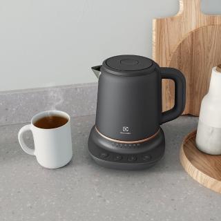 【Electrolux 伊萊克斯】輕巧美型不鏽鋼溫控電茶壺1.25L(E7CK1-80BP)
