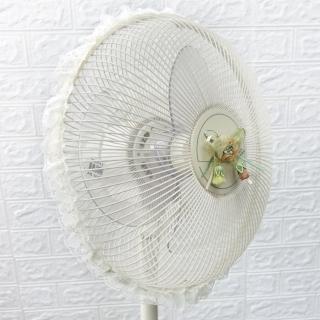 【LASSLEY】蕾絲電風扇防塵套防護網(適用12吋 電扇 防護套 防護罩 網套 台灣製造)