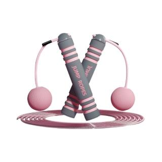【kingkong】燃脂卡路里兩用可調節跳繩 輕量訓練(有繩+無繩)