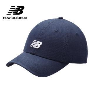 【NEW BALANCE】NB LOGO棒球帽_男款/女款_丈青_LAH91014NGO(加價購商品)