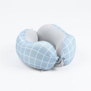 【生活工場】【618品牌週】簡藝格調分享頸枕-藍_附頸枕套2入
