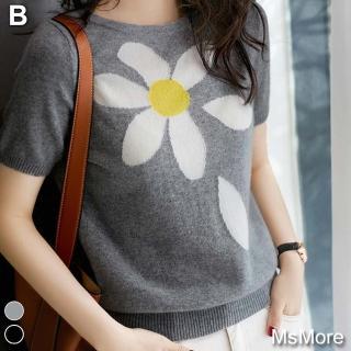 【MsMore】韓國時尚美團亮眼冰絲針織上衣#109150現貨+預購(3色)