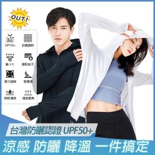 【KISSDIAMOND】頂級UPF50+連帽遮面防曬涼感冰鋒衣外套(防疫/輕鋒衣/超彈力/男女款/92108/92109)