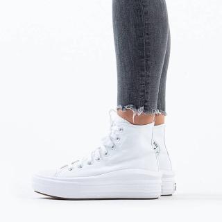 【CONVERSE】CTAS MOVE HI 高筒 厚底 百搭 輕量 女 休閒鞋 白色(568498C)