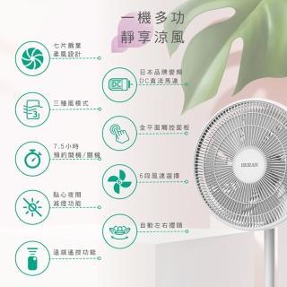 獨家2入組-【禾聯】質感新設計日本馬達14吋智慧觸控變頻7葉片DC扇(HDF-14A8NH)