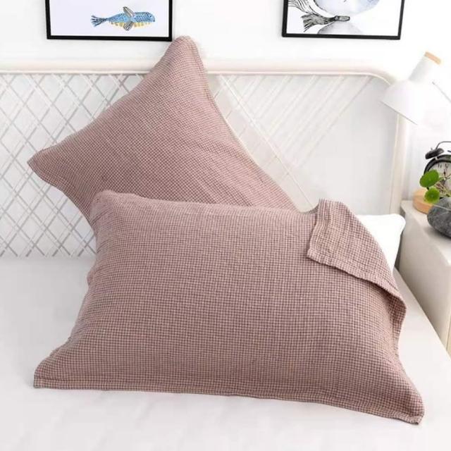 【Jun Jun】純棉四層紗枕巾 細格保潔枕頭巾(2入)