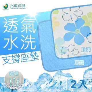 【格藍傢飾】涼感透氣支撐坐墊-2入(2色可選)