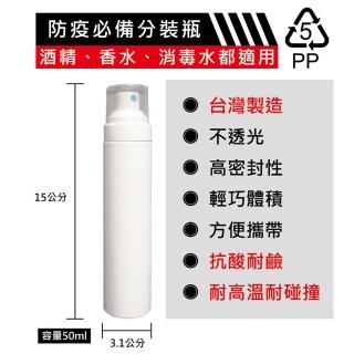 【ANDZEN】50ml台灣製造PP噴霧瓶分裝瓶(噴霧瓶/分裝瓶/酒精分裝瓶/消毒水瓶/分裝噴瓶)