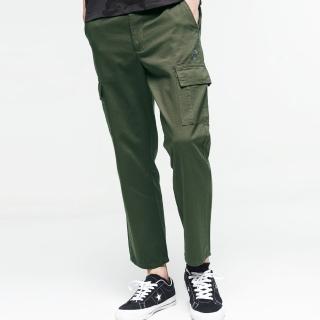【BLUE WAY】雙貼袋工裝中腰中直筒褲 - 地藏小王