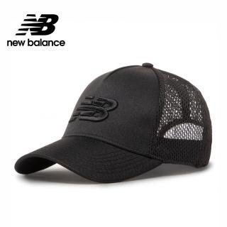 【NEW BALANCE】NB 刺繡LOGO卡車帽/透氣網帽_中性_黑色_MH013035BK(加價購商品)