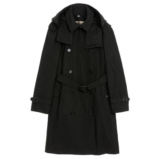 【BURBERRY 巴寶莉】經典連帽 雙釦長風衣(多色選)