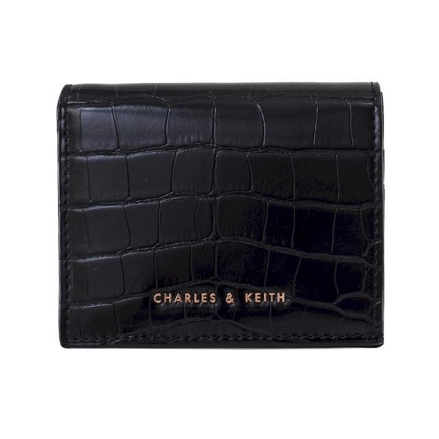 【CHARLES & KEITH】鱷魚紋拉鍊短夾-共兩色