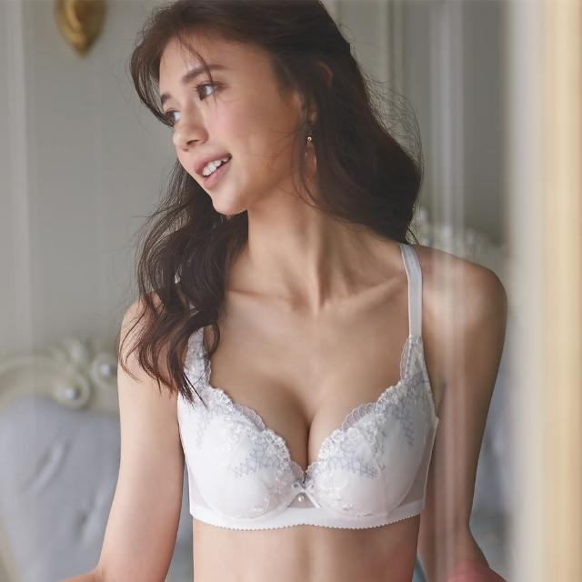 【Ladies 蕾黛絲】透透氣順型靠過來 B-F罩杯內衣(珍珠白)