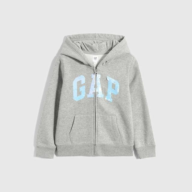 【GAP】童裝 碳素軟磨系列 Logo連帽外套(多色可選)