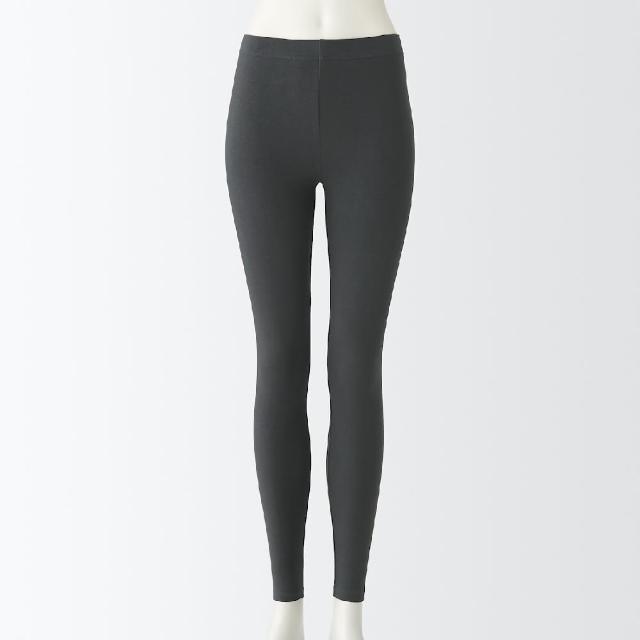 【MUJI 無印良品】女有機棉保暖全長緊身褲(共2色)