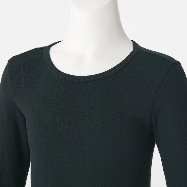 【MUJI 無印良品】兒童有機棉保暖長袖T恤(共3色)